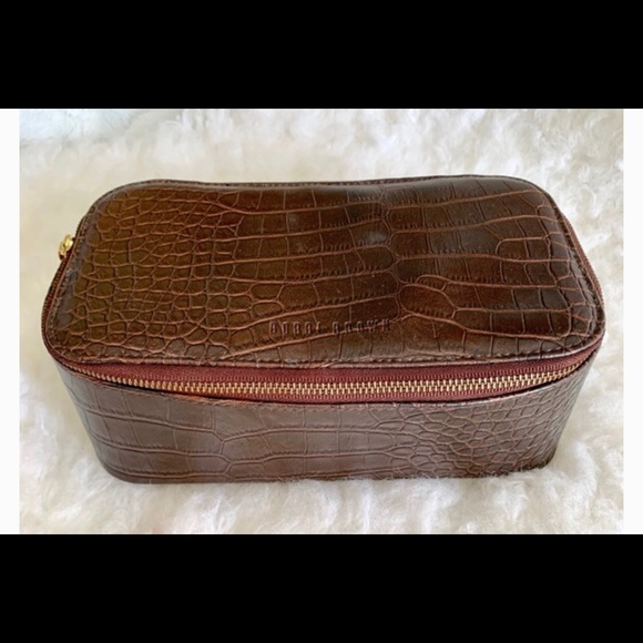 Bobbi Brown Handbags - Bobbi Brown Faux Croc Leather Makeup Case